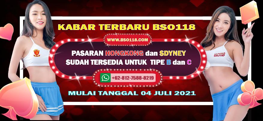 BSO118-PASARAN HONGKONG DAN SYDNEY SUDAH TERSEDIA TIPE B dan C